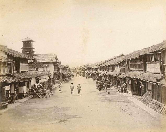 Kyoto 1880. Foto av Felice Beato