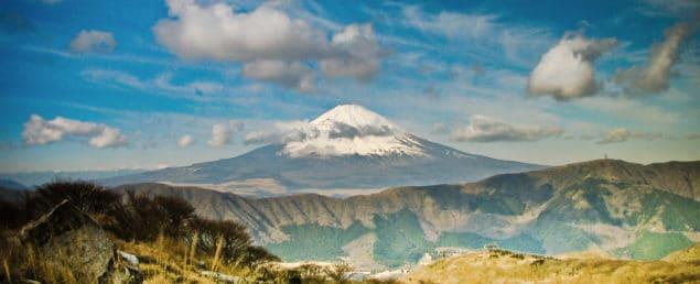 Fuji-berget på avstånd