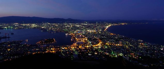 Utsikt över Hakodate från Hakodate-san