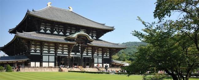 Todaiji-templet i Nara, världens näst största träbyggnad
