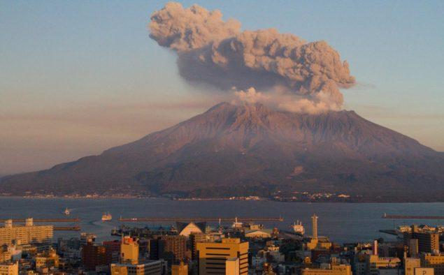 Vulkanen Sakurajima, Kagoshima