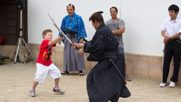 Samurajfajt på Eigamura i Kyoto