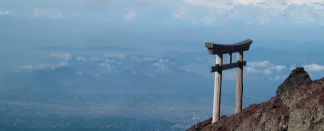Torii-port på Fujiberget