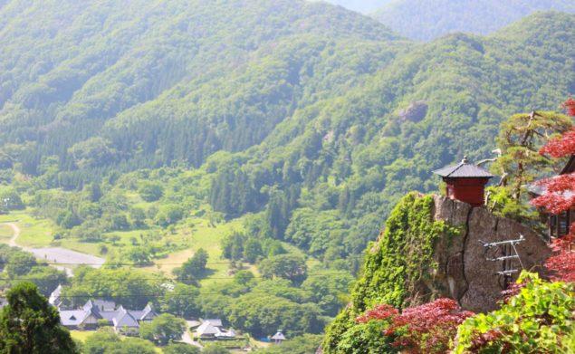 Utsikt från Yamadera